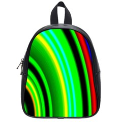 Multi Colorful Radiant Background School Bags (small)