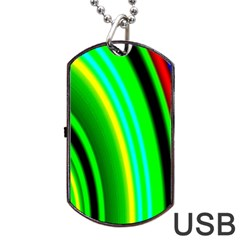Multi Colorful Radiant Background Dog Tag Usb Flash (one Side)