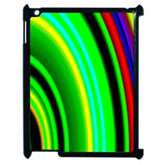 Multi Colorful Radiant Background Apple Ipad 2 Case (black) by Nexatart