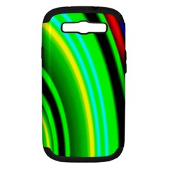 Multi Colorful Radiant Background Samsung Galaxy S Iii Hardshell Case (pc+silicone)
