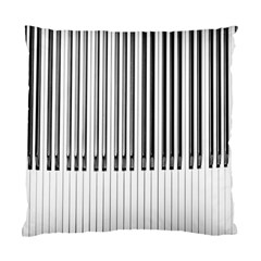 Abstract Piano Keys Background Standard Cushion Case (one Side) by Nexatart