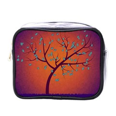 Beautiful Tree Background Mini Toiletries Bags by Nexatart