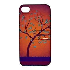 Beautiful Tree Background Apple Iphone 4/4s Hardshell Case With Stand by Nexatart