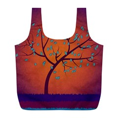 Beautiful Tree Background Full Print Recycle Bags (l)  by Nexatart
