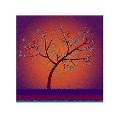 Beautiful Tree Background Small Satin Scarf (square) by Nexatart