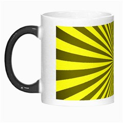 Sunburst Pattern Radial Background Morph Mugs by Nexatart