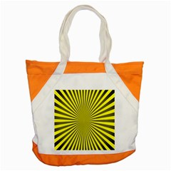 Sunburst Pattern Radial Background Accent Tote Bag by Nexatart
