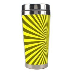 Sunburst Pattern Radial Background Stainless Steel Travel Tumblers by Nexatart