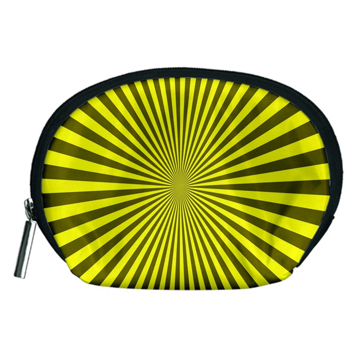 Sunburst Pattern Radial Background Accessory Pouches (Medium)