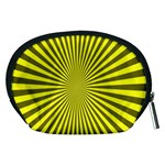 Sunburst Pattern Radial Background Accessory Pouches (Medium)  Back