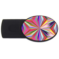 Star A Completely Seamless Tile Able Design Usb Flash Drive Oval (2 Gb)