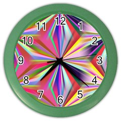 Star A Completely Seamless Tile Able Design Color Wall Clocks by Nexatart
