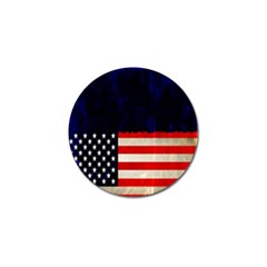Grunge American Flag Background Golf Ball Marker (4 Pack) by Nexatart