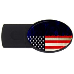 Grunge American Flag Background Usb Flash Drive Oval (4 Gb) by Nexatart