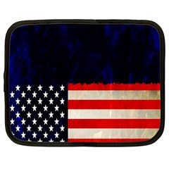 Grunge American Flag Background Netbook Case (large)