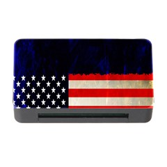 Grunge American Flag Background Memory Card Reader With Cf by Nexatart