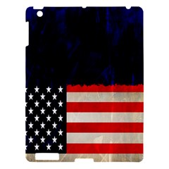 Grunge American Flag Background Apple Ipad 3/4 Hardshell Case by Nexatart