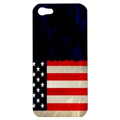 Grunge American Flag Background Apple Iphone 5 Hardshell Case by Nexatart