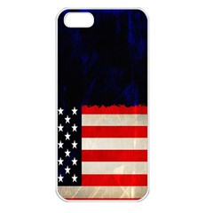 Grunge American Flag Background Apple Iphone 5 Seamless Case (white) by Nexatart