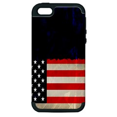 Grunge American Flag Background Apple Iphone 5 Hardshell Case (pc+silicone) by Nexatart