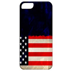 Grunge American Flag Background Apple Iphone 5 Classic Hardshell Case by Nexatart
