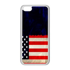 Grunge American Flag Background Apple Iphone 5c Seamless Case (white) by Nexatart