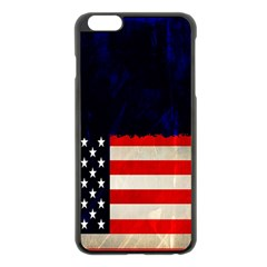 Grunge American Flag Background Apple Iphone 6 Plus/6s Plus Black Enamel Case by Nexatart