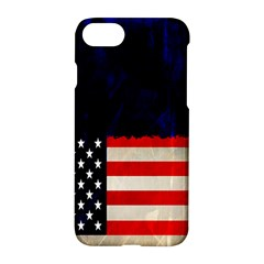 Grunge American Flag Background Apple Iphone 7 Hardshell Case by Nexatart