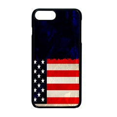Grunge American Flag Background Apple Iphone 7 Plus Seamless Case (black) by Nexatart