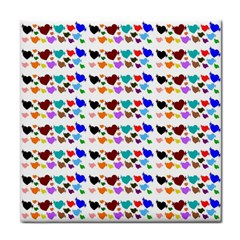 A Creative Colorful Background With Hearts Tile Coasters