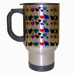 A Creative Colorful Background With Hearts Travel Mug (silver Gray) by Nexatart
