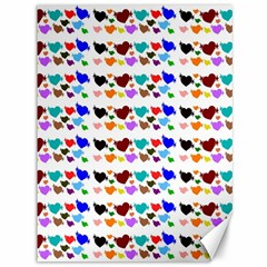 A Creative Colorful Background With Hearts Canvas 36  X 48   by Nexatart