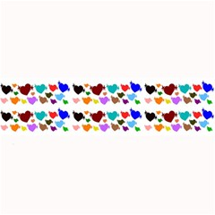 A Creative Colorful Background With Hearts Large Bar Mats by Nexatart