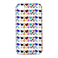 A Creative Colorful Background With Hearts Apple Iphone 4/4s Hardshell Case With Stand by Nexatart