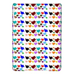 A Creative Colorful Background With Hearts Ipad Air Hardshell Cases by Nexatart