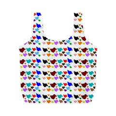 A Creative Colorful Background With Hearts Full Print Recycle Bags (m)  by Nexatart