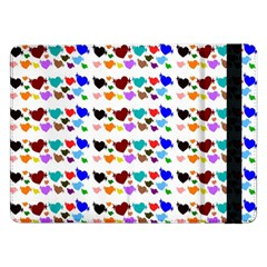 A Creative Colorful Background With Hearts Samsung Galaxy Tab Pro 12 2  Flip Case by Nexatart