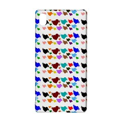 A Creative Colorful Background With Hearts Sony Xperia Z3+ by Nexatart