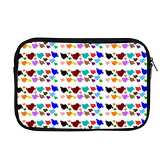 A Creative Colorful Background With Hearts Apple Macbook Pro 17  Zipper Case by Nexatart