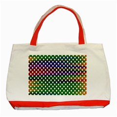 Digital Polka Dots Patterned Background Classic Tote Bag (red)
