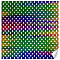 Digital Polka Dots Patterned Background Canvas 12  X 12