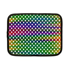 Digital Polka Dots Patterned Background Netbook Case (small)  by Nexatart