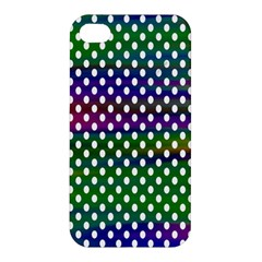 Digital Polka Dots Patterned Background Apple Iphone 4/4s Premium Hardshell Case