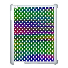 Digital Polka Dots Patterned Background Apple Ipad 3/4 Case (white)