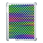 Digital Polka Dots Patterned Background Apple iPad 3/4 Case (White) Front