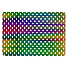 Digital Polka Dots Patterned Background Samsung Galaxy Tab 8 9  P7300 Flip Case by Nexatart