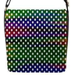 Digital Polka Dots Patterned Background Flap Messenger Bag (s)