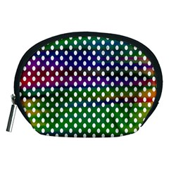 Digital Polka Dots Patterned Background Accessory Pouches (medium)  by Nexatart