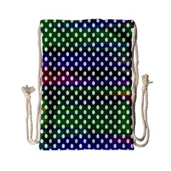Digital Polka Dots Patterned Background Drawstring Bag (small) by Nexatart