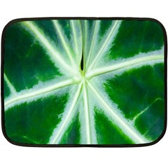 Green Leaf Macro Detail Double Sided Fleece Blanket (mini)  by Nexatart